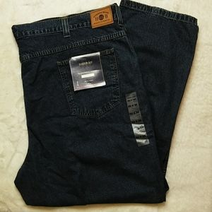 Harbor Bay Men's Relaxed Fit Jeans 52 x 32 NWT